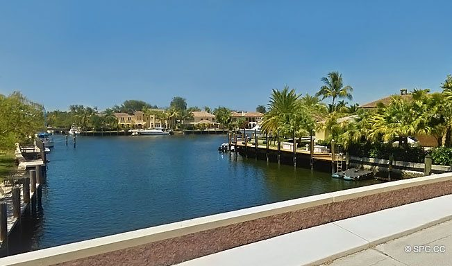 Street View of the Luxury Waterfront Homes in Rio Vista, Fort Lauderdale, Florida 33316