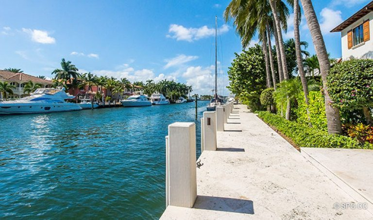 Deep Water Dockage for the Luxury Waterfront Homes in Harbor Beach, Fort Lauderdale, Florida 33316