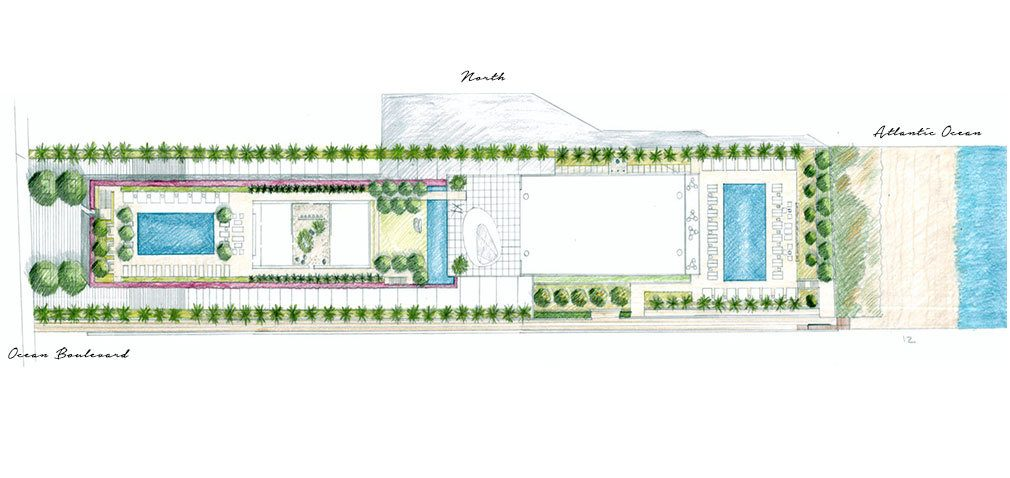 Siteplan for 2000 Ocean, Luxury Oceanfront Condos in Hallandale Beach, Florida 33009