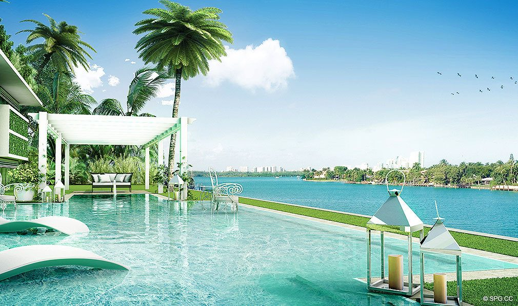 O Residences Water Deck, Luxury Waterfront Condominiums Located at 9821 E Bay Harbor Dr, Miami Beach, FL 33154