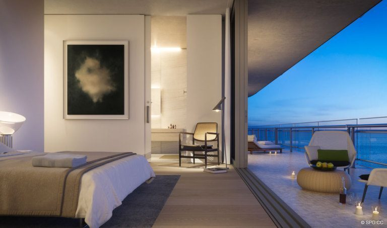 Bedroom Design at Eighty Seven Park, Luxury Oceanfront Condos in Miami Beach, Florida 33154