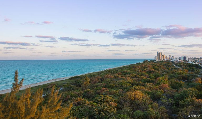 Southeast Open Space Park View from Eighty Seven Park, Luxury Oceanfront Condos in Miami Beach, Florida 33154