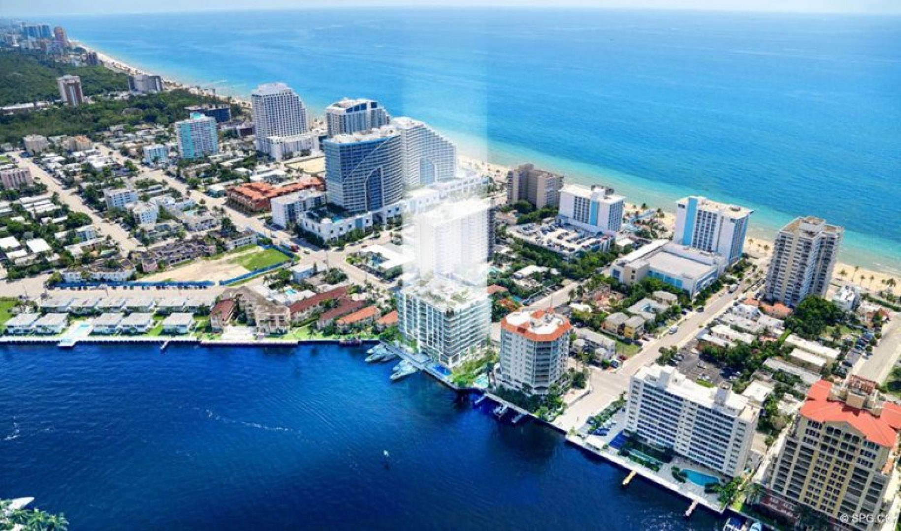 Northern View of 321 at Water's Edge, Luxury Waterfront Condos in Fort Lauderdale, Florida 33304
