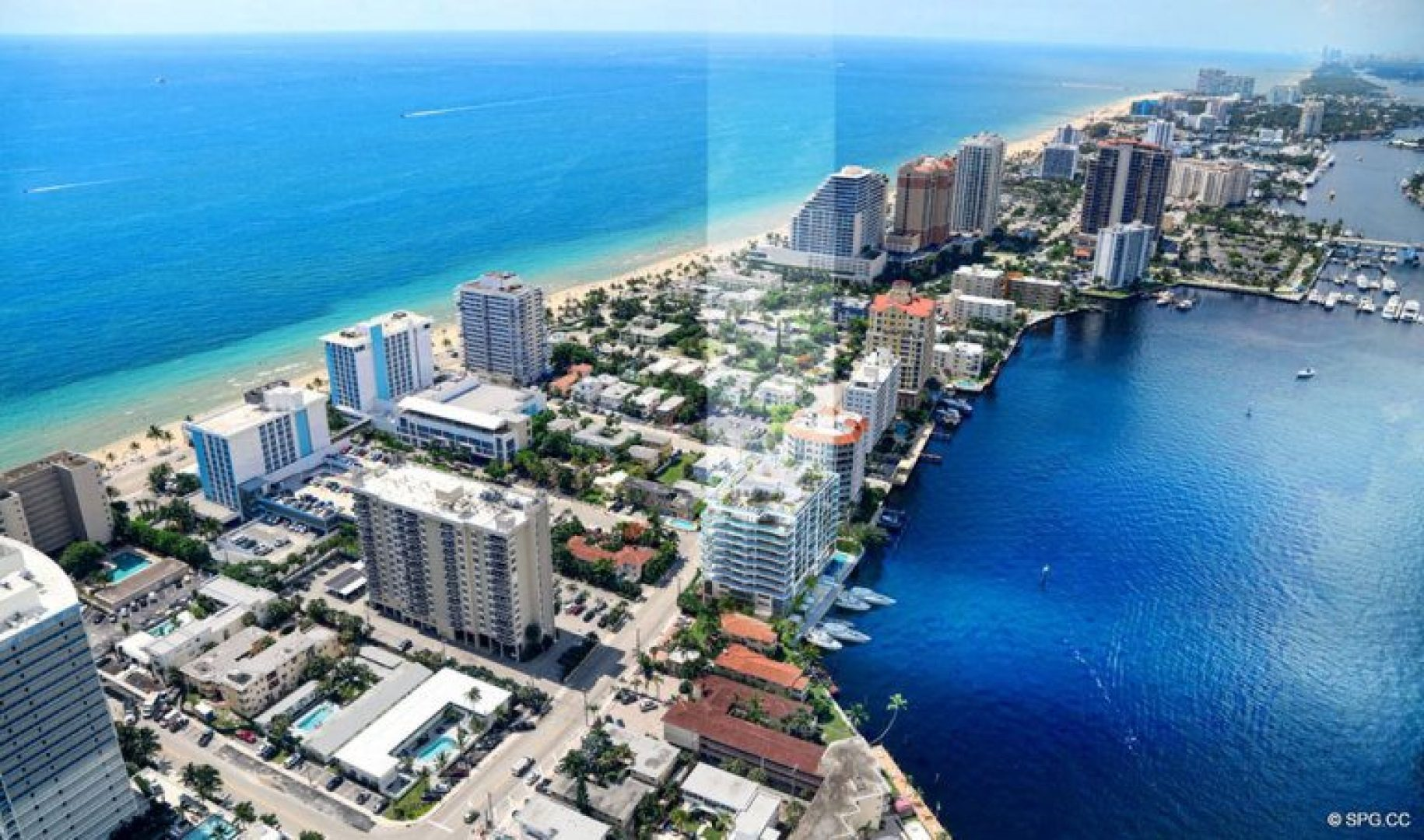 Southern View of 321 at Water's Edge, Luxury Waterfront Condos in Fort Lauderdale, Florida 33304