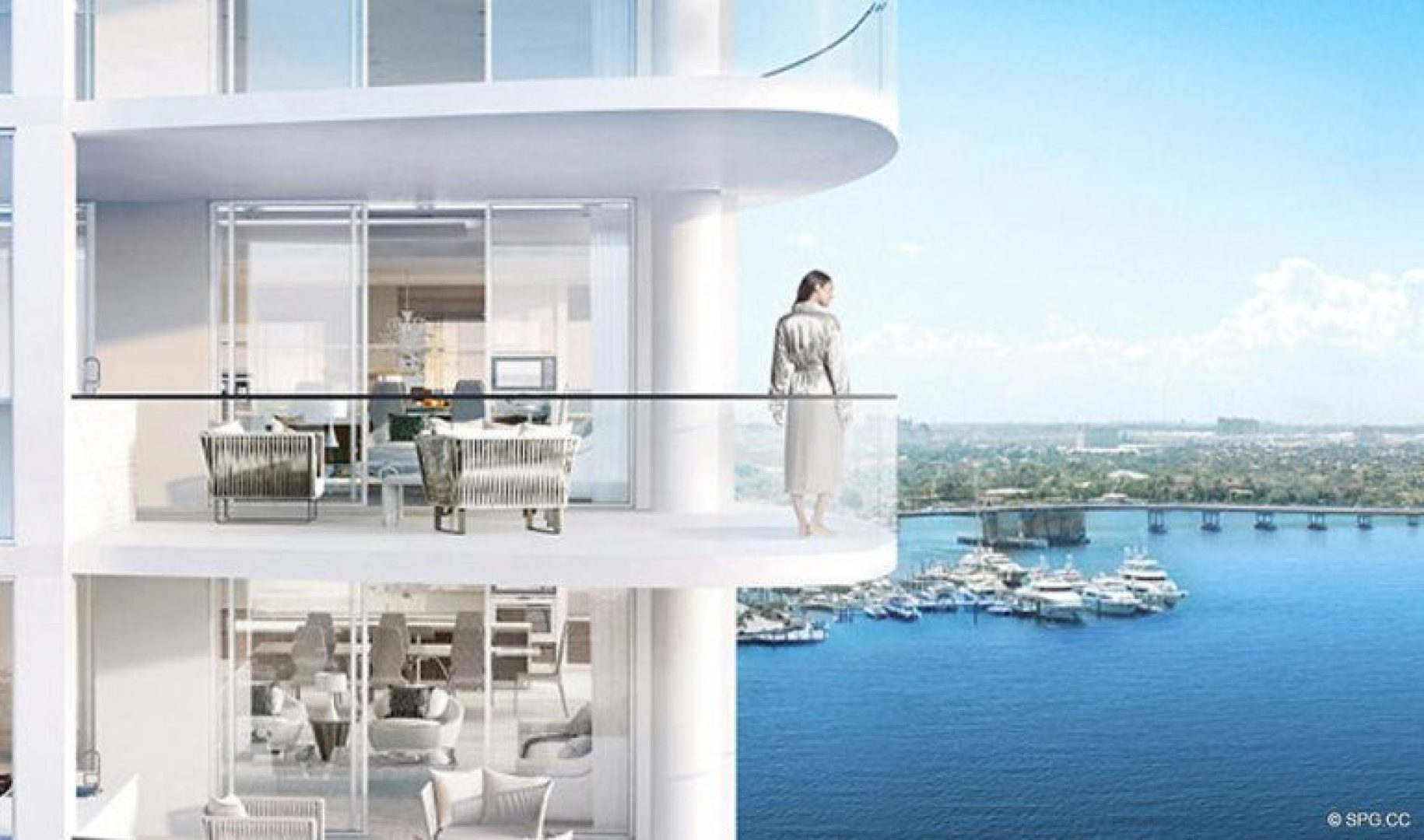 Gorgeous Terrace Views from 321 at Water's Edge, Luxury Waterfront Condos in Fort Lauderdale, Florida 33304