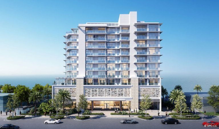 Building Facade of Adagio Fort Lauderdale Beach, Luxury Waterfront Condos in Fort Lauderdale, Florida 33304