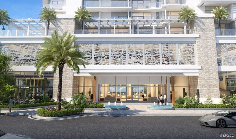 Entrance into Adagio Fort Lauderdale Beach, Luxury Waterfront Condos in Fort Lauderdale, Florida 33304