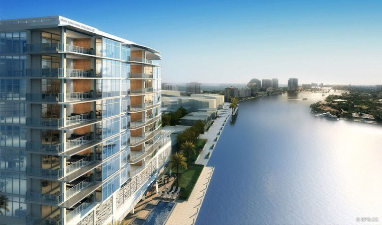 Intracoastal View of Adagio Fort Lauderdale Beach, Luxury Waterfront Condos in Fort Lauderdale, Florida 33304