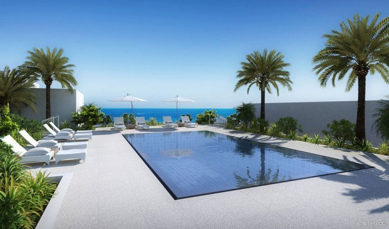 Rooftop Pool at Adagio Fort Lauderdale Beach, Luxury Waterfront Condos in Fort Lauderdale, Florida 33304