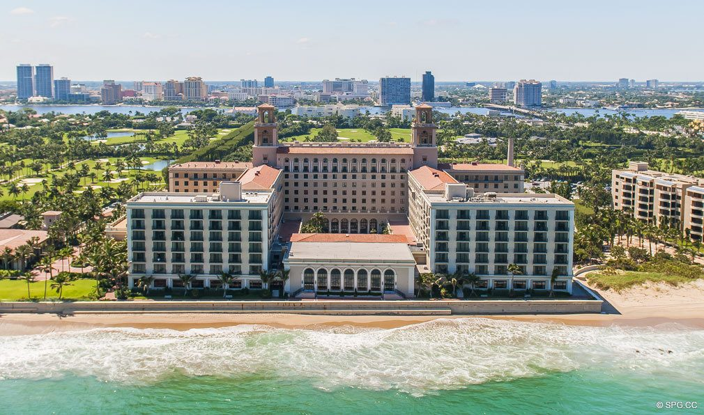 East to West View of The Breakers, Luxury Oceanfront Condos in Palm Beach, 33480