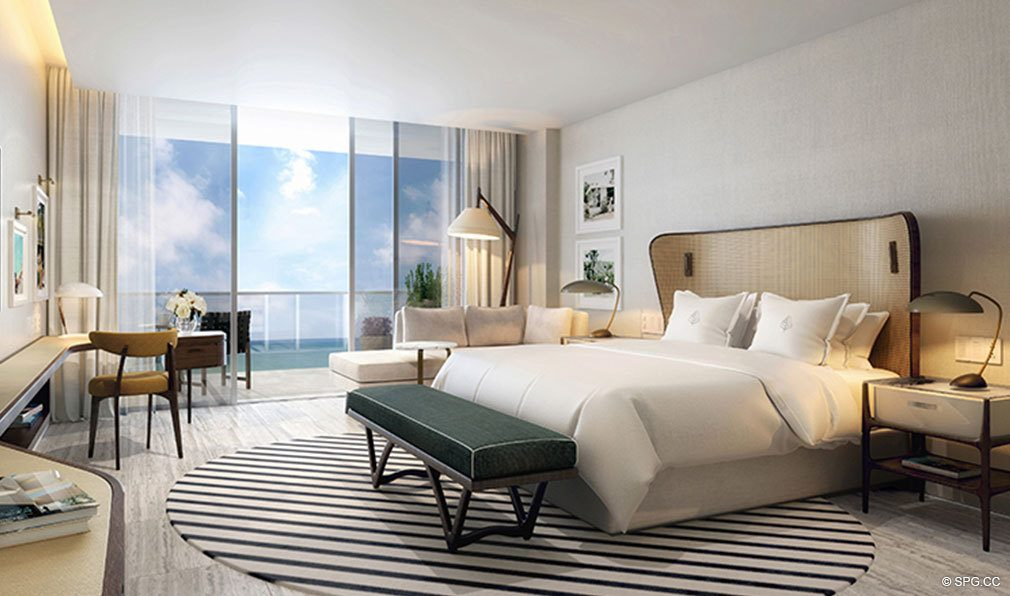 Bedroom Design at The Four Seasons Private Residences Fort Lauderdale, Luxury Oceanfront Condos in Fort Lauderdale, Florida 33304.