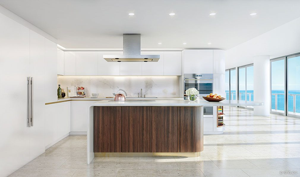 Kitchen Design at The Four Seasons Private Residences Fort Lauderdale, Luxury Oceanfront Condos in Fort Lauderdale, Florida 33304.