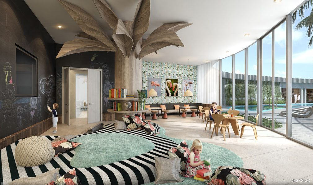 Kids Room at Park Grove, Luxury Waterfront Condos in Miami, Florida 33133