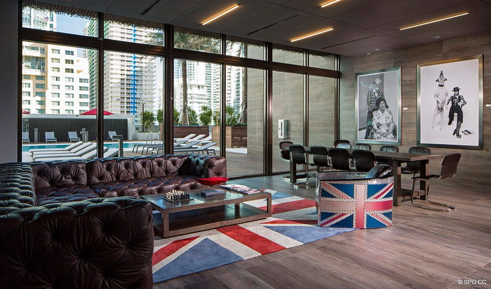Distinct British Style at Bond on Brickell, Luxury Seaside Condos in Miami, Florida 33131