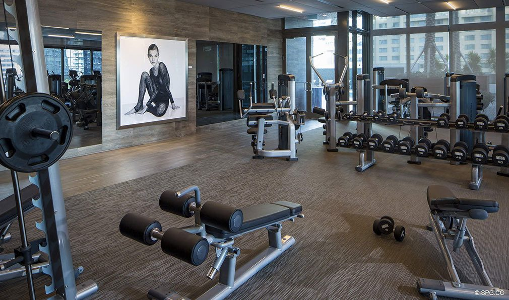 Fitness Center inside Bond on Brickell, Luxury Seaside Condos in Miami, Florida 33131