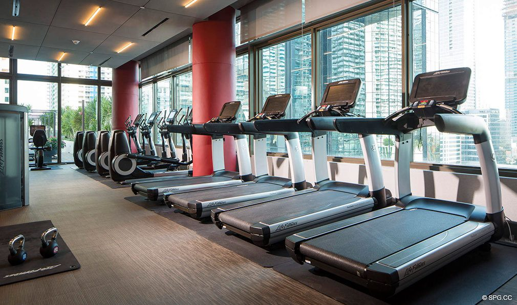 State of the Art Gym in Bond on Brickell, Luxury Seaside Condos in Miami, Florida 33131