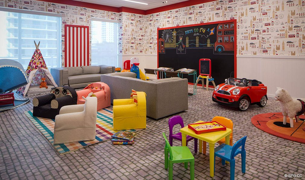 Kids Room at Bond on Brickell, Luxury Seaside Condos in Miami, Florida 33131
