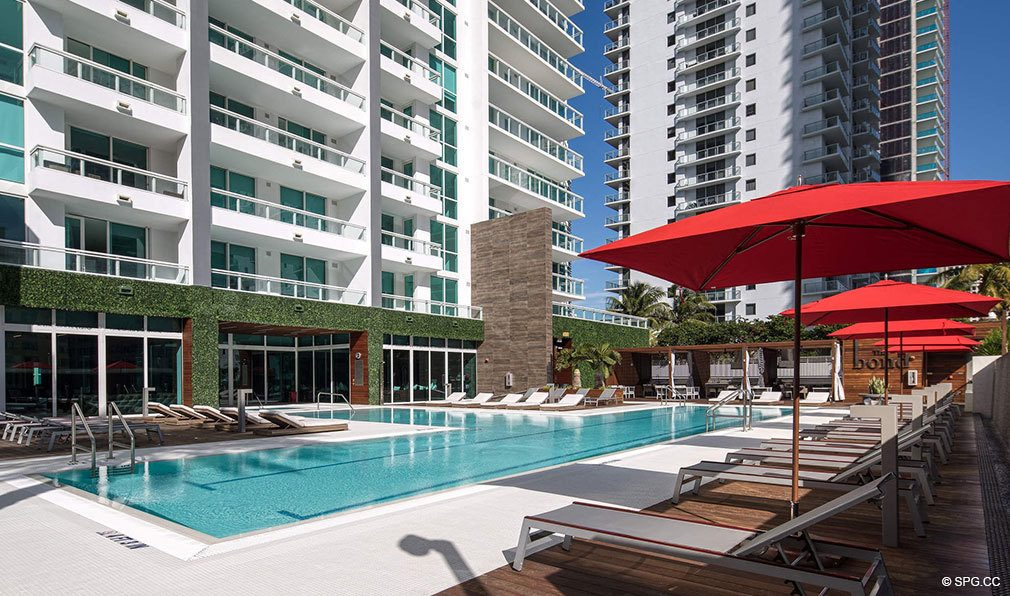 Expansive Pool Deck at Bond on Brickell, Luxury Seaside Condos in Miami, Florida 33131