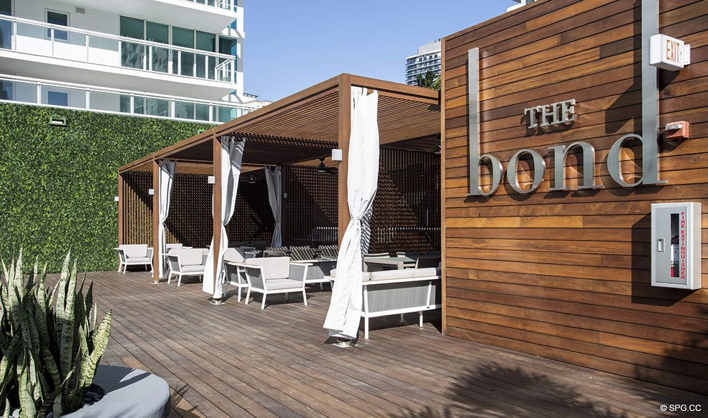 Poolside Cabanas at Bond on Brickell, Luxury Seaside Condos in Miami, Florida 33131