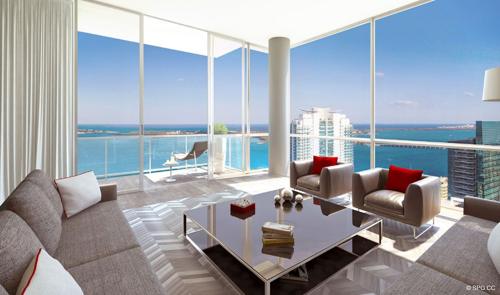 Exceptional Living Spaces in Bond on Brickell, Luxury Seaside Condos in Miami, Florida 33131