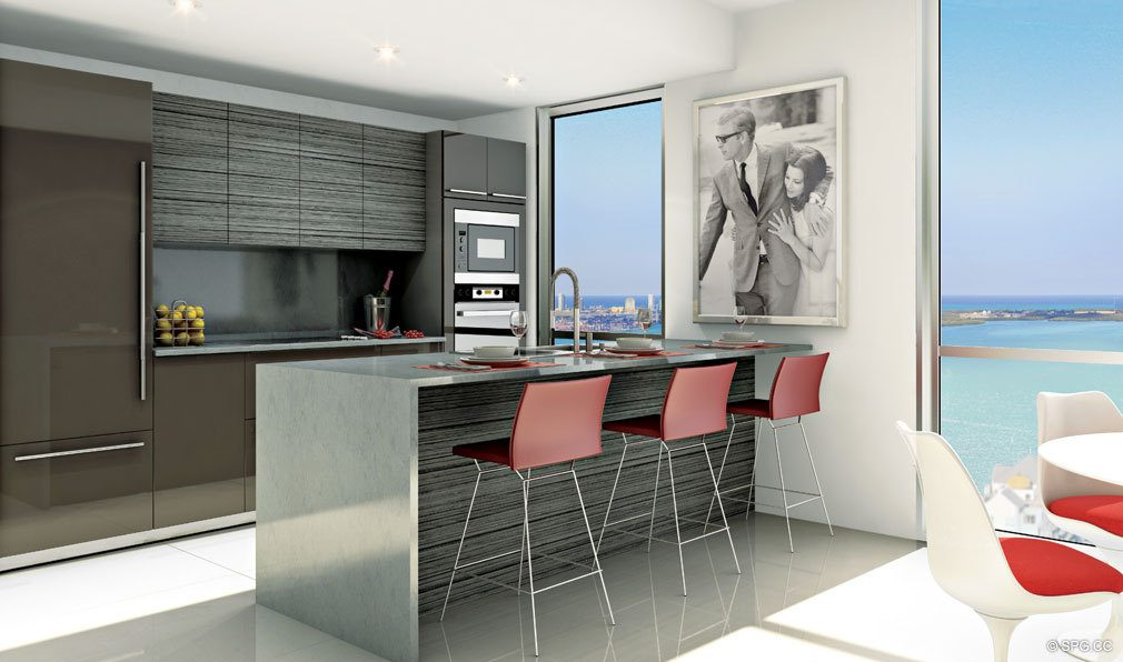 Gourmet Kitchens in Bond on Brickell, Luxury Seaside Condos in Miami, Florida 33131