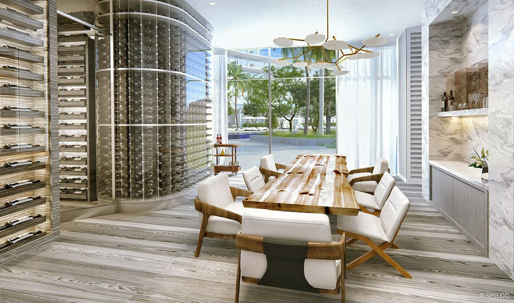 Napa Wine Cellar at Auberge Beach Residences, Luxury Oceanfront Condos in Ft Lauderdale