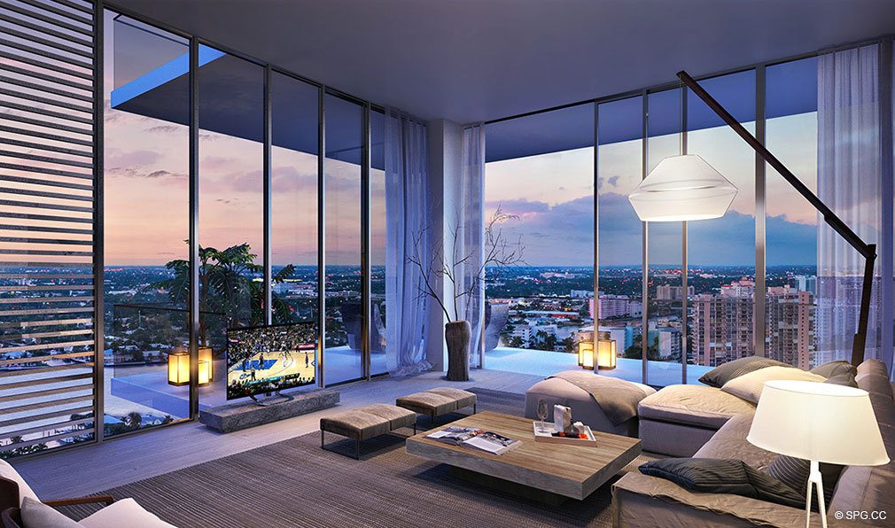 Evening Elegance at Auberge Beach Residences, Luxury Oceanfront Condos in Ft Lauderdale