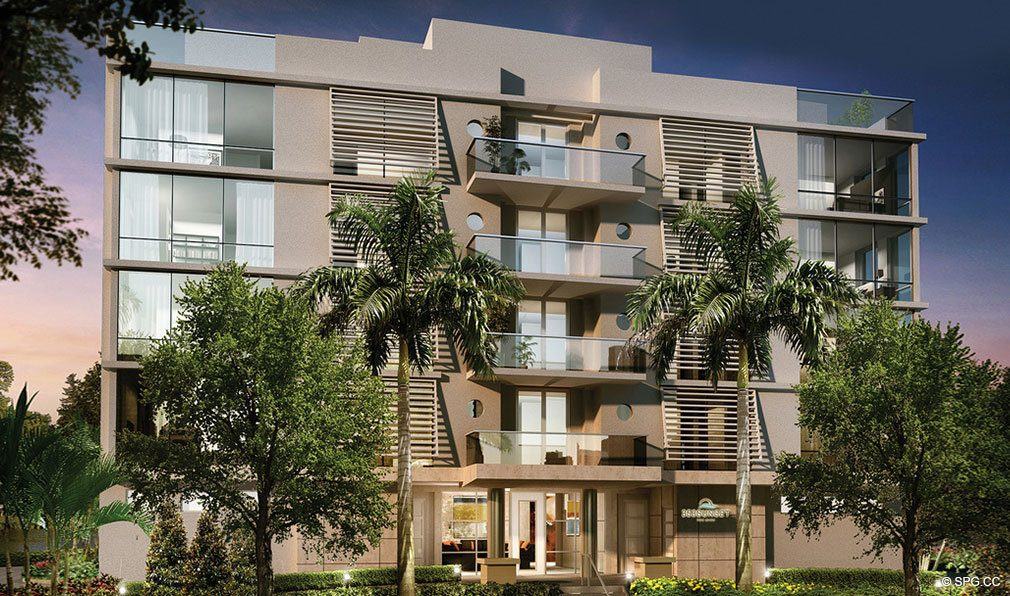 Front of 353 Sunset, Luxury Waterfront Condos in Fort Lauderdale, Florida 33301