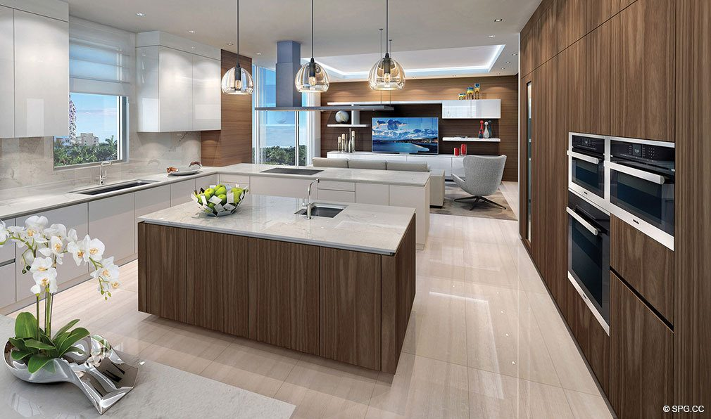 Gourmet Kitchens in 353 Sunset, Luxury Waterfront Condos in Fort Lauderdale, Florida 33301