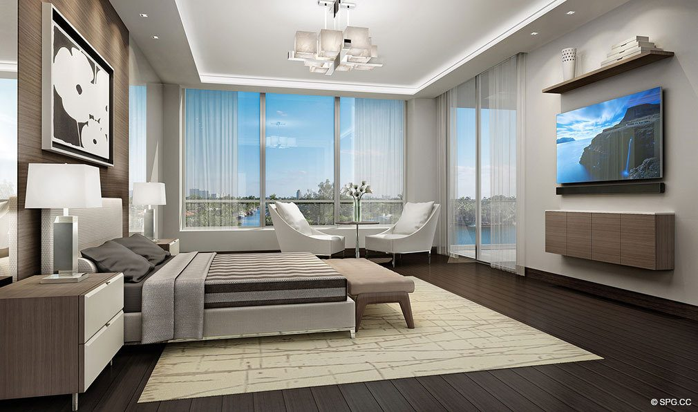 Mastre Bedroom Design in 353 Sunset, Luxury Waterfront Condos in Fort Lauderdale, Florida 33301