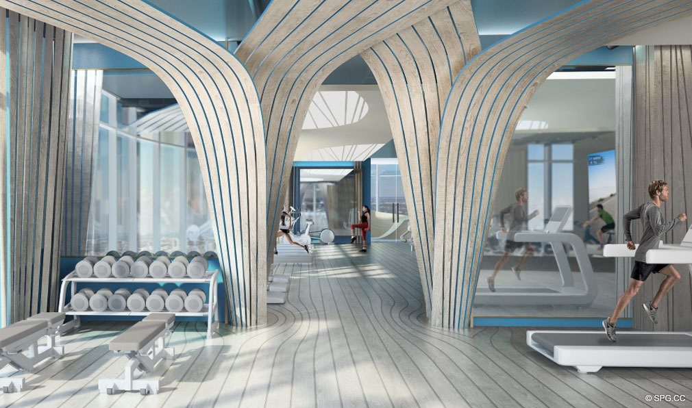 State of the Art Sky Gym at Brickell Flatiron, Luxury Condos in Miami, Florida 33130