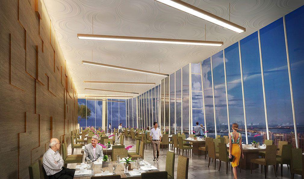 Dining in the Sky at Okan Tower, Luxury Condos in Miami, Florida 33136