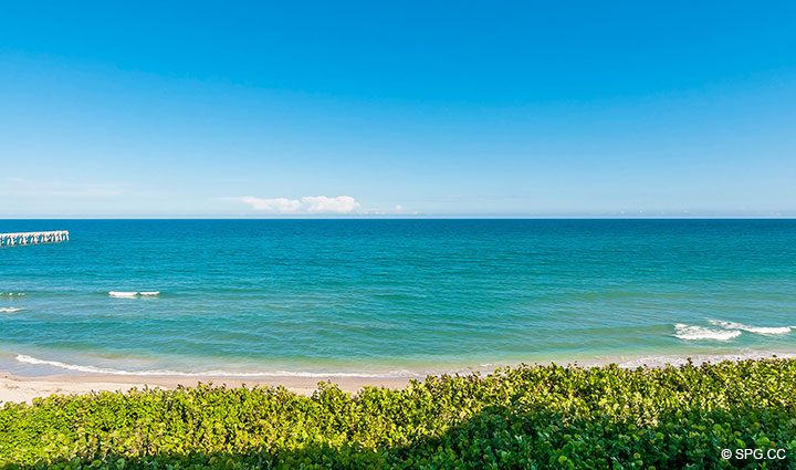 Ocean Views from Residence 406 at Bellaria, Luxury Oceanfront Condominiums in Palm Beach, Florida 33480.