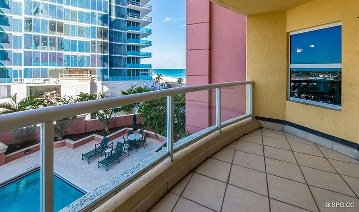 Partial Ocean Views from Residence 6A, Tower II For Sale at The Palms, Luxury Oceanfront Condominiums Fort Lauderdale, Florida 33305