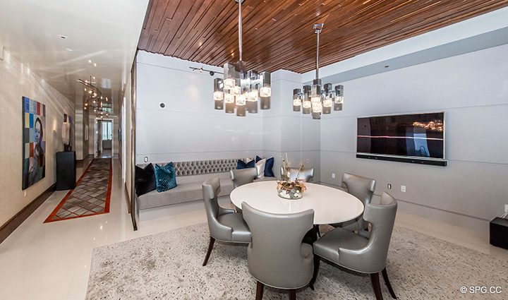 Formal Dining Room Residence 501 For Sale at 1000 Ocean, Luxury Oceanfront Condos in Boca Raton, Florida 33432.