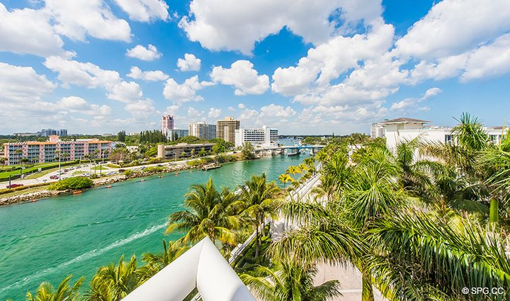 Intracoastal Views from Residence 501 For Sale at 1000 Ocean, Luxury Oceanfront Condos in Boca Raton, Florida 33432.