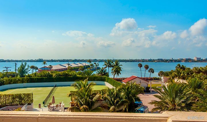 lakeside Views from Residence 406 at Bellaria, Luxury Oceanfront Condominiums in Palm Beach, Florida 33480.