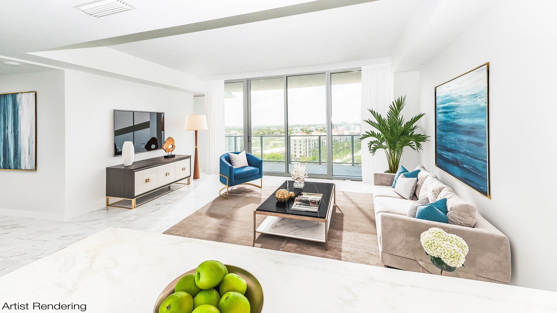 Artist Rendering Residence N902 at Auberge Beach Residences and Spa Fort Lauderdale, FL 33305