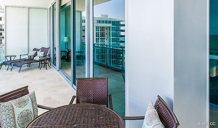 Terrace at Residence 902 For Rent at One Bal Harbour, Luxury Oceanfront Condos in Bal Harbour, Miami, Florida 33154.