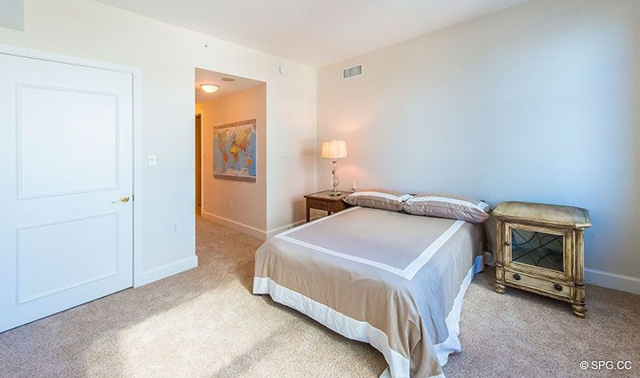 Spacious Guest Room in Residence 6A, Tower II For Sale at The Palms, Luxury Oceanfront Condominiums Fort Lauderdale, Florida 33305