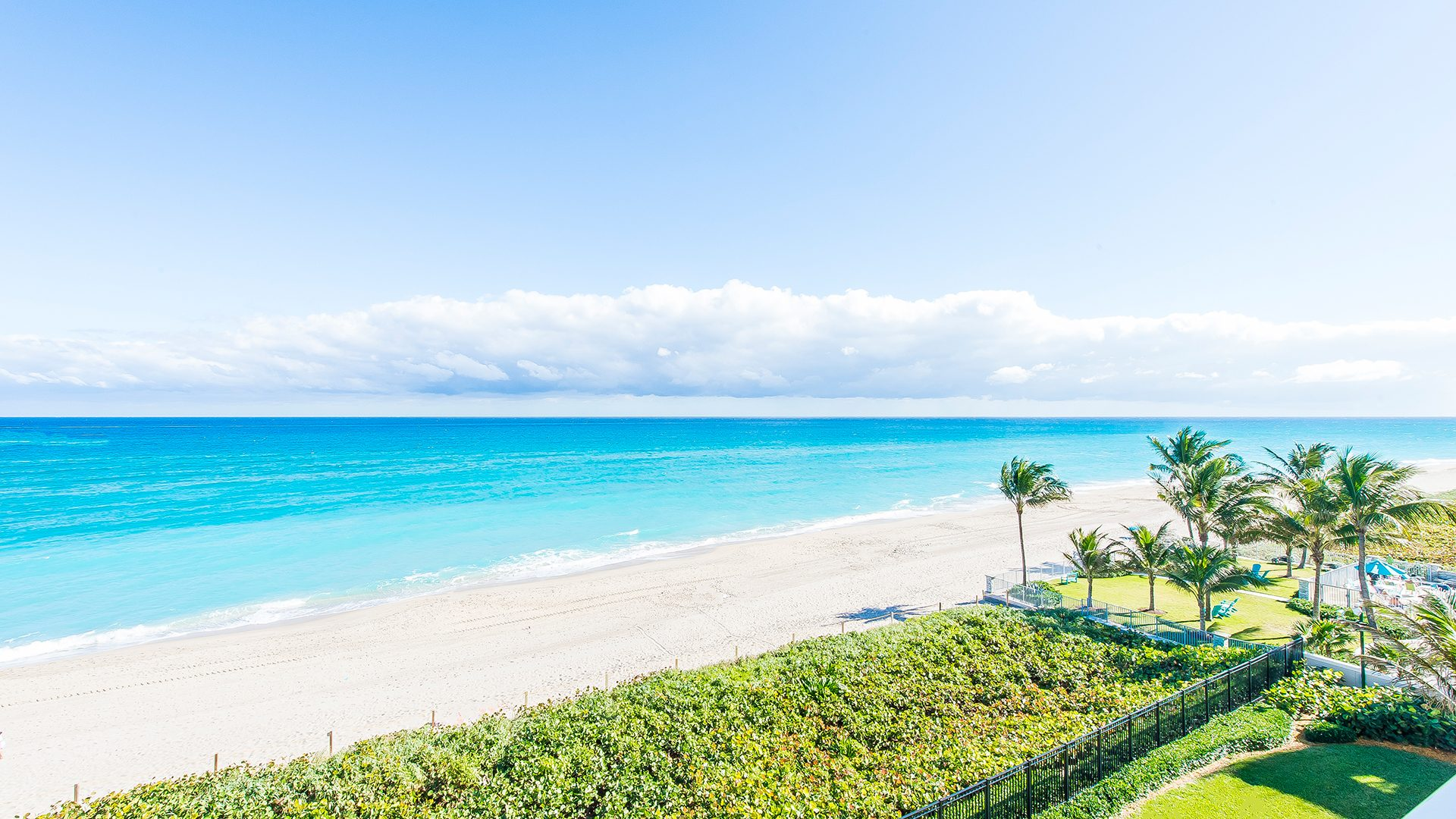 Ocean Views from Residence 507 at Bellaria, Luxury Oceanfront Condominiums in Palm Beach, Florida 33480.