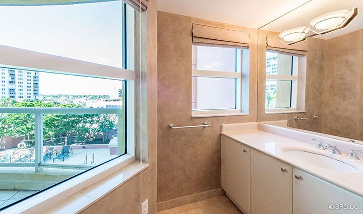 Guest Bath inside Residence 6A, Tower II For Sale at The Palms, Luxury Oceanfront Condominiums Fort Lauderdale, Florida 33305