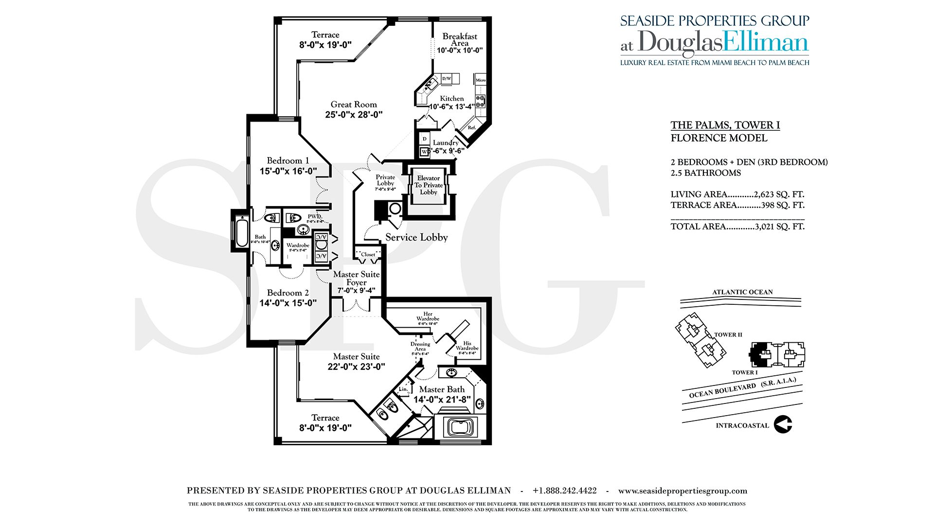 Floorplan for The Palms Residence 19B T1