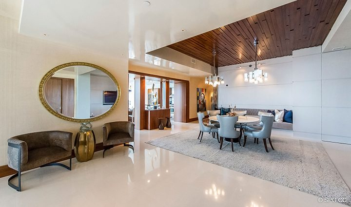 Entry into Residence 501 For Sale at 1000 Ocean, Luxury Oceanfront Condos in Boca Raton, Florida 33432.