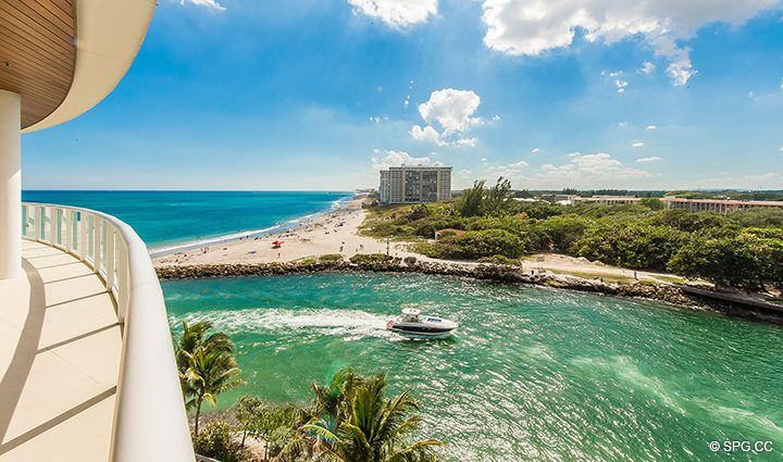 Terrace Views from Residence 501 For Sale at 1000 Ocean, Luxury Oceanfront Condos in Boca Raton, Florida 33432.