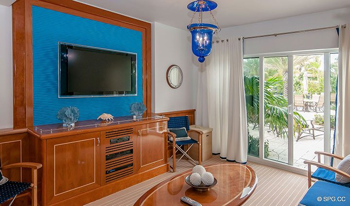 poolside Cabana for Residence 406 at Bellaria, Luxury Oceanfront Condominiums in Palm Beach, Florida 33480.
