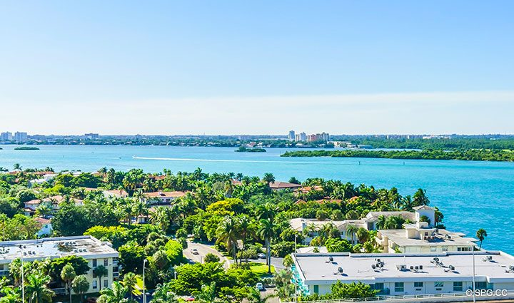 Intracoastal Views from Residence 902 For Rent at One Bal Harbour, Luxury Oceanfront Condos in Bal Harbour, Miami, Florida 33154.