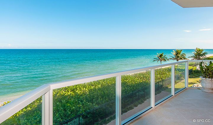 Grand Terrace for Residence 406 at Bellaria, Luxury Oceanfront Condominiums in Palm Beach, Florida 33480.