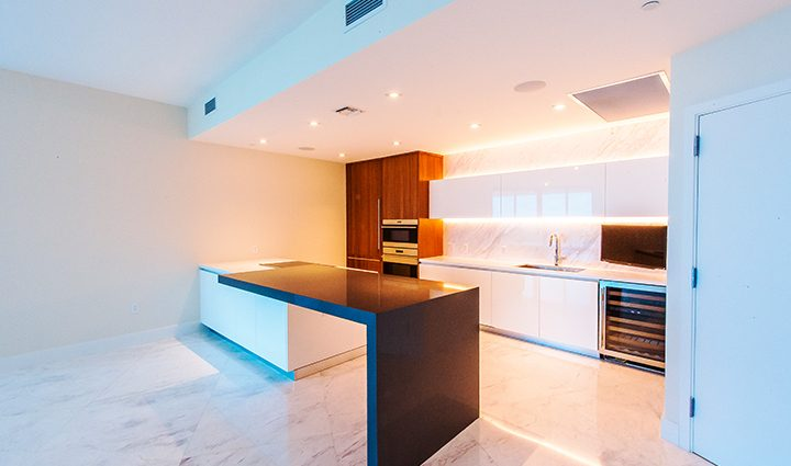 Kitchen Residence 604 For Sale at Paramount, Luxury Oceanfront Condominiums Fort Lauderdale, Florida 33304