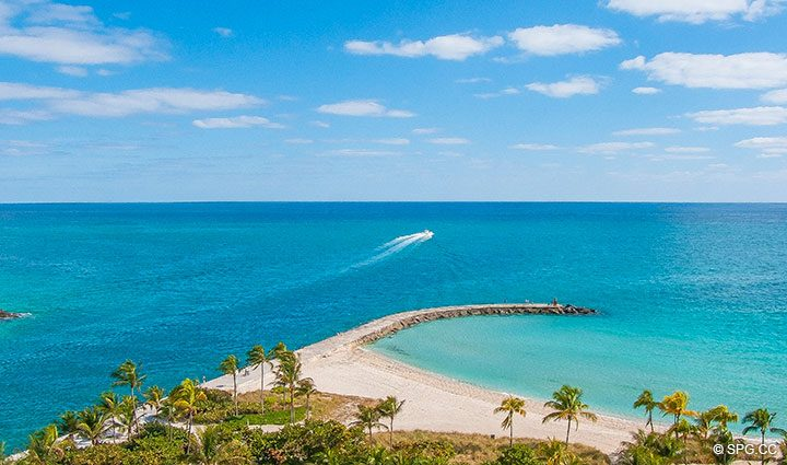 Superb Ocean Views from Residence 902 For Rent at One Bal Harbour, Luxury Oceanfront Condos in Bal Harbour, Miami, Florida 33154.